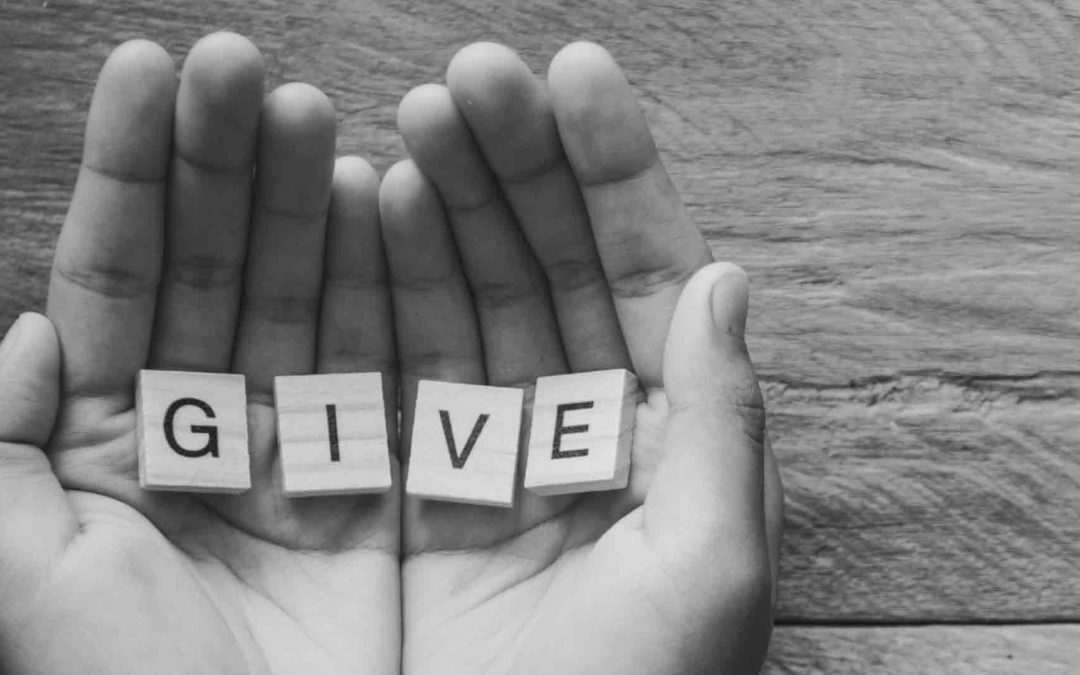 Do you show up to give or get?
